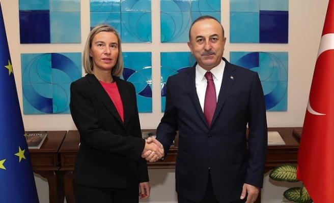 Dışişleri Bakanı Çavuşoğlu, AB Yüksek Temsilcisi Mogherini ile görüştü