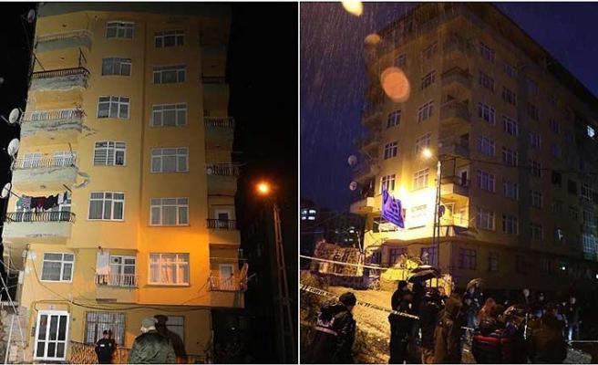 Rize'de faciadan dönüldü! 8 katlı bina son anda tahliye edildi