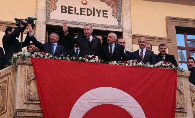 Cumhurbaşkanı Erdoğan Çorum Belediyesini ziyaret etti