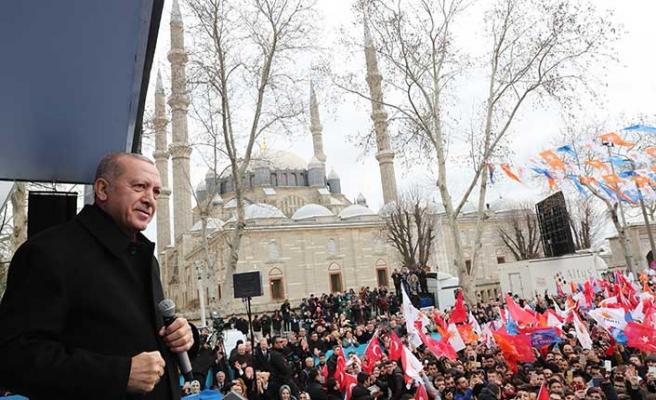 Başkan Erdoğan'dan Edirne'de, Batı Trakya ve yaşam tarzı mesajı