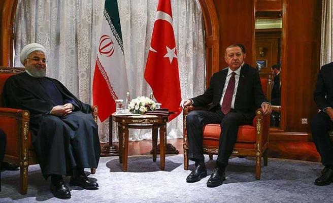 Üçlü Zirve öncesi Erdoğan-Ruhani görüşmesi sona erdi