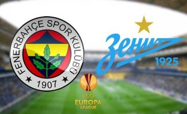 Fenerbahçe Zenit maçı ne zaman, saat kaçta, hangi kanalda?