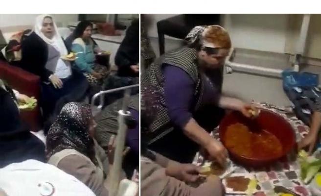 Hastane odasında çiğ köfte partisine inceleme başlatıldı