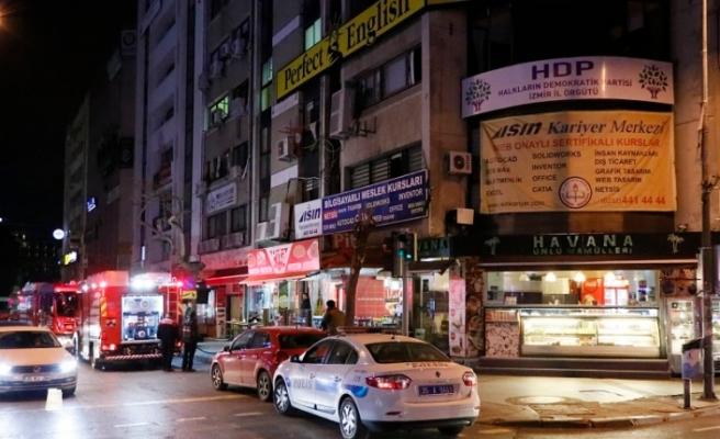 İzmir HDP İl Başkanlığında yangın