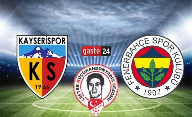 Kayserispor Fenerbahçe canlı izle - Kayserispor Fenerbahçe beIN Sports izle