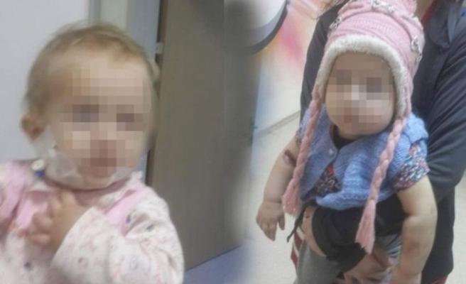 Vücuduna çamaşır suyu enjekte edilen bebeğin babası ifade verdi