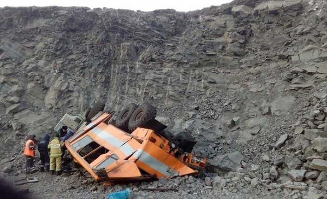 Rusya'dan feci görüntüler! Madencileri taşıyan otobüs…