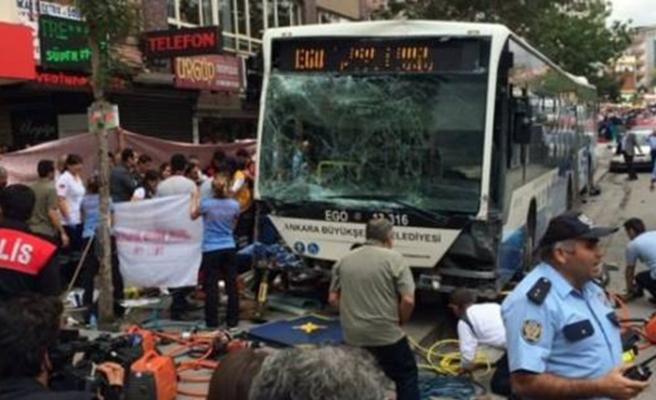 Ankara'da belediye otobüsleri çarpıştı! Yaralılar var…