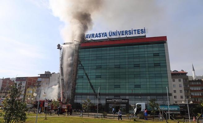 Trabzon'daki Avrasya Üniversitesi'nde yangın