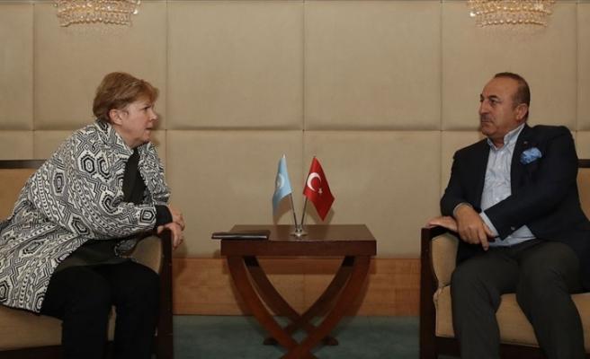 Bakan Çavuşoğlu ile BM Temsilcisi Lute bir araya geldi