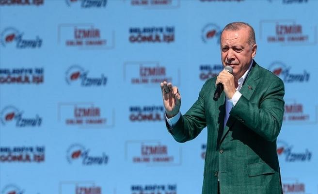 Cumhurbaşkanı Erdoğan: Adaylık icazetini İzmir'den değil Kandil'den almıştır
