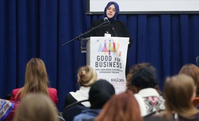 'Güçlü kadın, güçlü Türkiye hedefiyle çalışmalarımıza devam ediyoruz'
