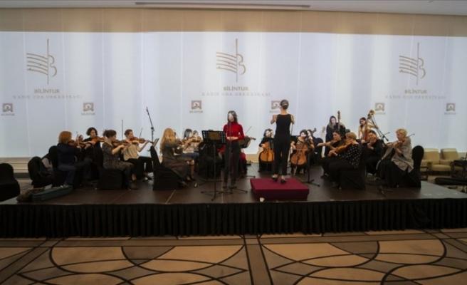 'Kadın orkestrası' kurdular kadın bestecileri seslendirdiler
