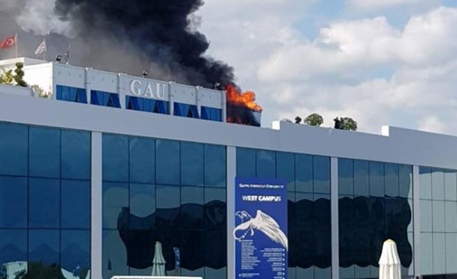 KKTC'nin ilk özel üniversitesinde korkutan yangın