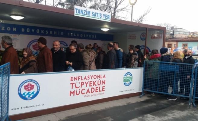 Trabzon'da tanzim satış noktası açıldı