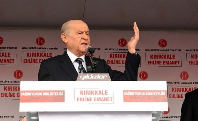 Devlet Bahçeli: Türkiye düşmanlarının yancılığına zillet ittifakı heves etmiştir
