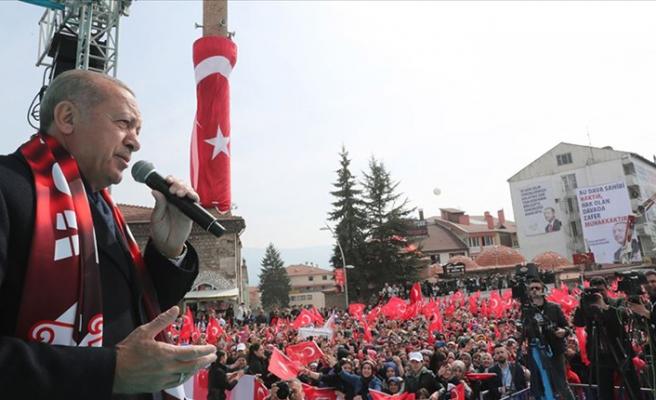 Cumhurbaşkanı Erdoğan: Zor olan meydanda ne söylediysen seçimden sonra unutmamaktır