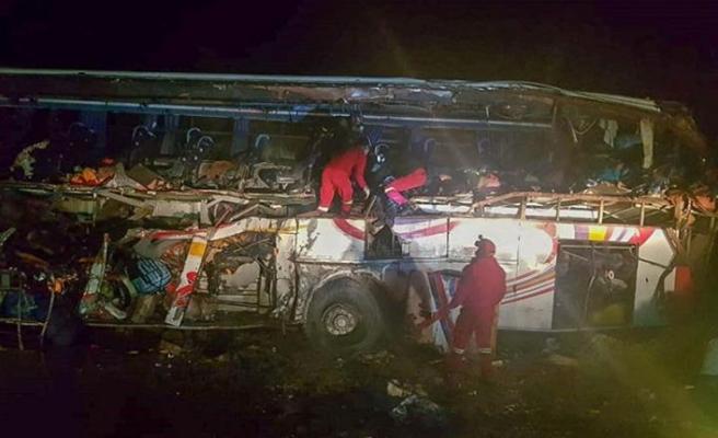 Bolivya'da otobüs faciası: 17 ölü