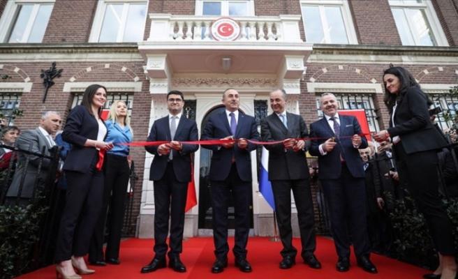 Dışişleri Bakanı Çavuşoğlu Amsterdam Başkonsolosluğunun açılışını yaptı