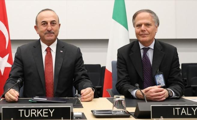 Dışişleri Bakanı Çavuşoğlu İtalyan mevkidaşı ile görüştü