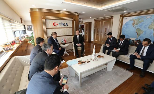 Elyor Ganiev'den TİKA Başkanı Serdar Çam'a ziyaret