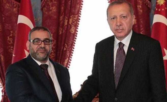 Erdoğan, Halid El-Meşri'yi Beylerbeyi'nde kabul etti