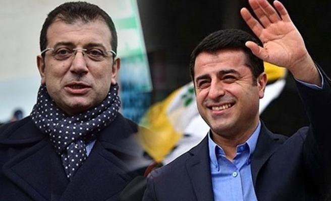 İmamoğlu'ndan HDP'li Demirtaş'a övgüler