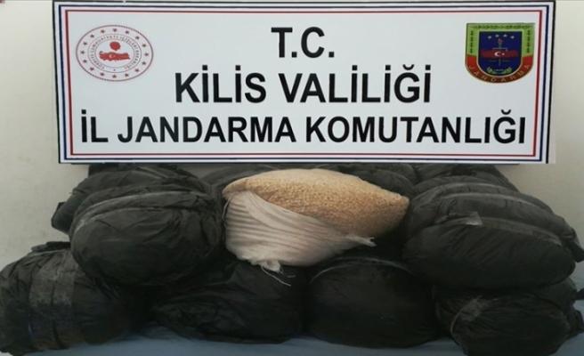 Kilis'te PKK'nın 1 milyon 500 bin uyuşturucu hapı ele geçirildi