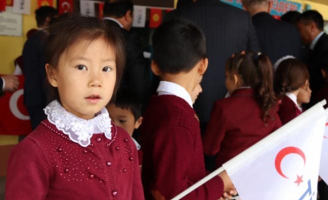 TİKA'nın Kırgızistan'da yenilediği okul hizmete girdi