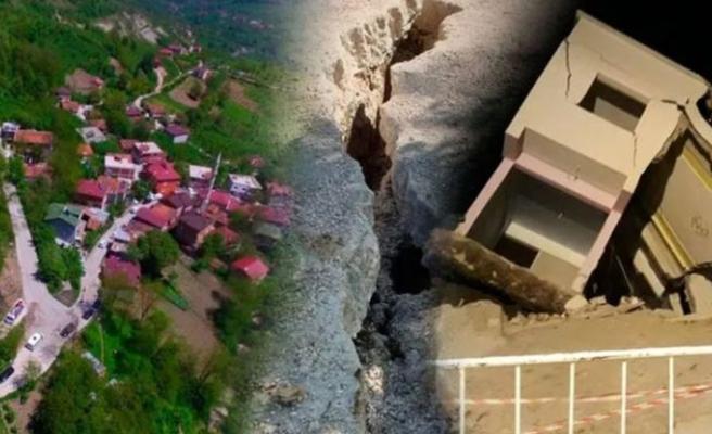 Ordu'da art arda yaşanan heyelanda 15 ev çöktü! Mahalle boşaltılıyor