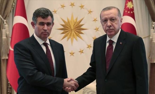 Cumhurbaşkanı Erdoğan, Metin Feyzioğlu'nu kabul etti