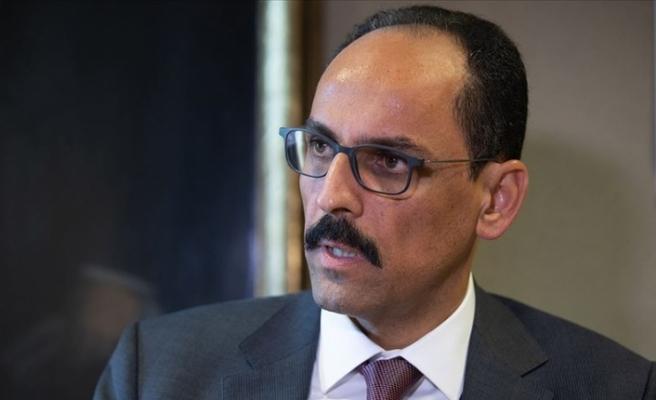 Cumhurbaşkanlığı Sözcüsü Kalın: Türkiye haklı davasında Filistin halkının yanındadır