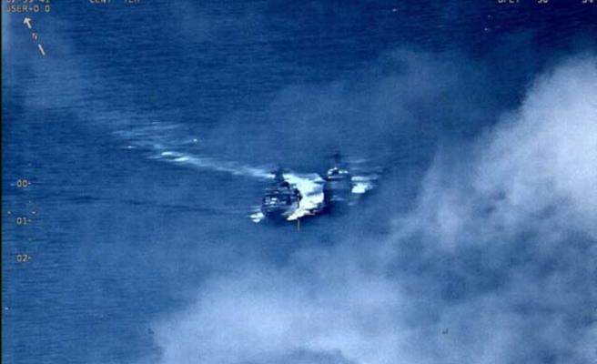 ABD ve Rus savaş gemileri birbirine girdi