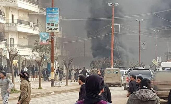 Afrin'de bomba yüklü tanker patladı!  8 ölü, 35 yaralı