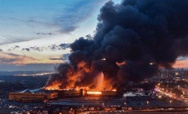 Moskova'da elektrik santralinde büyük yangın!