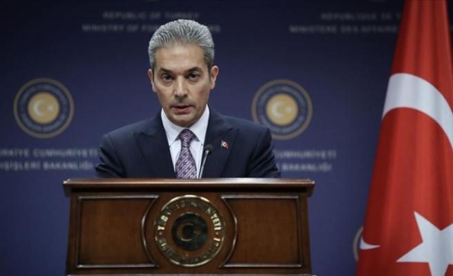 Dışişleri Sözcüsü Aksoy'dan Kıbrıs'ta 'siyasi eşitlik' vurgusu