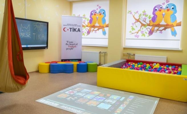 TİKA Ukrayna'da çocuklar için 'Duyusal Oda' kurdu