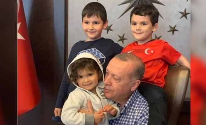 Cumhurbaşkanı Erdoğan'ın 8. torun sevinci