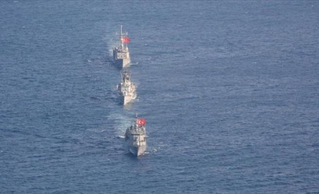 Doğu Akdeniz'de İtalya ile ortak deniz eğitimi