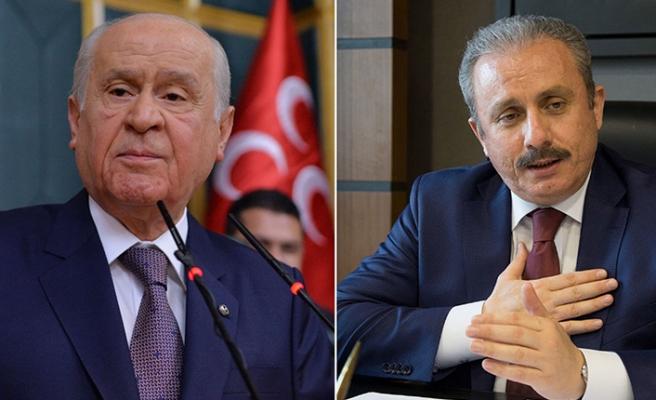 TBMM Başkanı Şentop'tan MHP lideri Bahçeli'ye ziyaret
