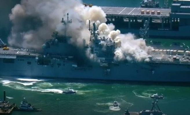 ABD savaş gemisinde yangın! En az 21 yaralı