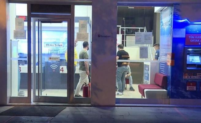 Ankara'da kar maskesiyle 1 dakikalık banka soygunu