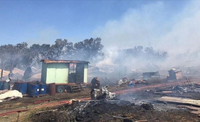 Bursa'da makilik alanda çıkan yangın ormana sıçradı