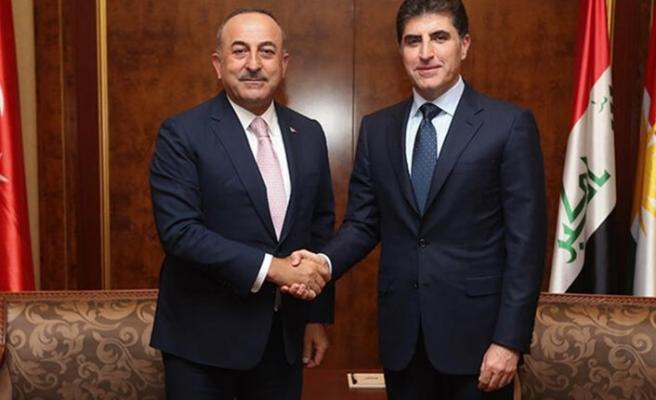 Bakan Çavuşoğlu, IKBY Başkanı Barzani ile görüştü