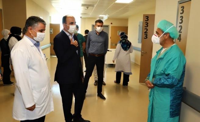 Başkan Altay Şehir Hastanesini ziyaret etti
