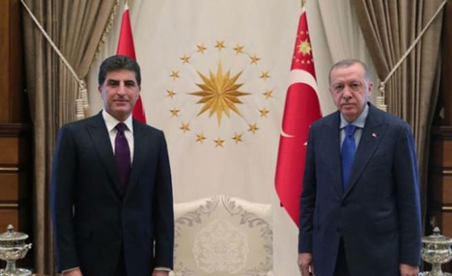 Cumhurbaşkanı Erdoğan, IKBY Başkanı Barzani'yi kabul etti