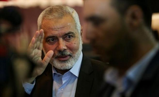 İsmail Heniyye Filistinli mültecilerle buluşmak üzere Lübnan'da