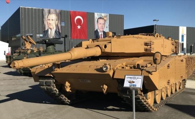 Leopard 2A4 tankları yeni zırhlarıyla