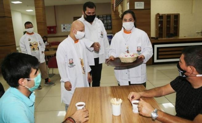 Şanlıurfa'da özel çocuklar 'Down Kafe'de sosyalleşiyor