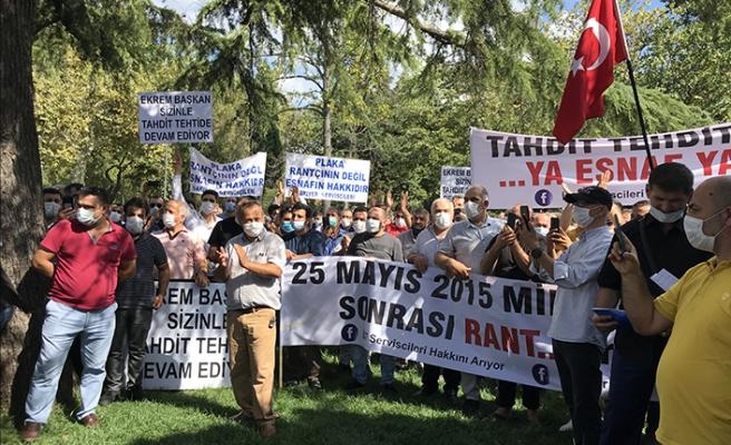 Servisçilerden İmamoğlu'na yeni plaka teklifi protestosu